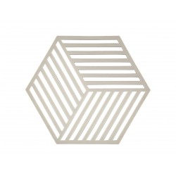 Dessous de Plat Hexagon Gris Clair 16 x 14 cm Zone Denmark