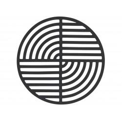 Dessous de Plat Circle Noir Diam 14 cm Zone Denmark