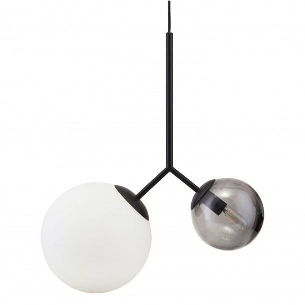 Opal Black Twice White and Grey Pendant Diam 26 & 15 cm House Doctor
