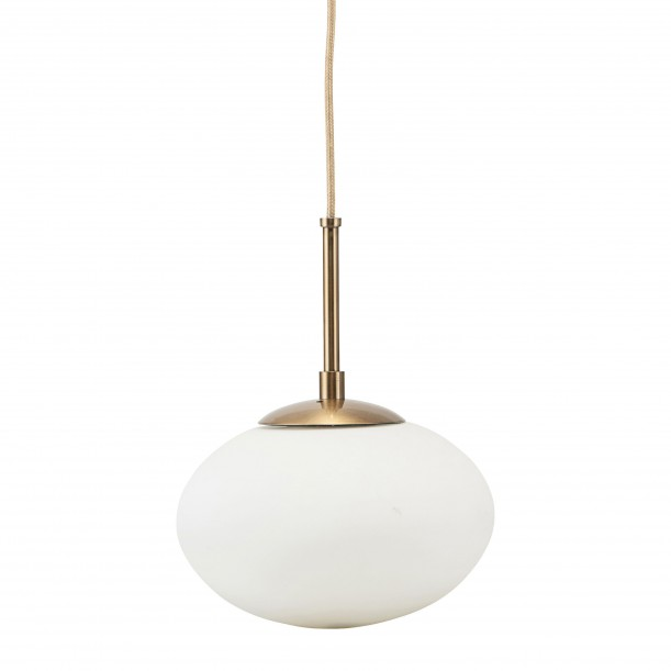 Lampe Suspension Opal Blanche Small Diam 22 cm House Doctor
