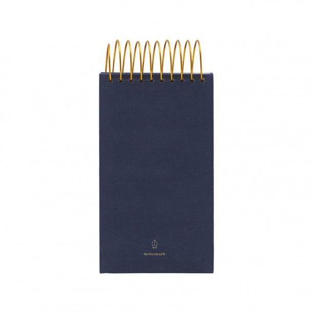Bloc Note Spirale Bleu 16cm x 9cm Monograph