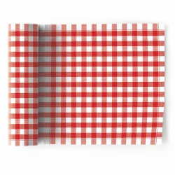 Rouleau de 12 Serviettes de Table Picnic Vichy Rouge Mydrap