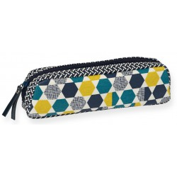 Pencil Case Geometrie Coated Canvas Mr & Mrs Clynk