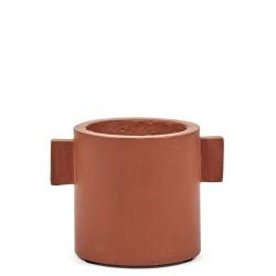 Cylindrical Rust Concrete Pot Marie Diam 13 x H 13 cm Serax