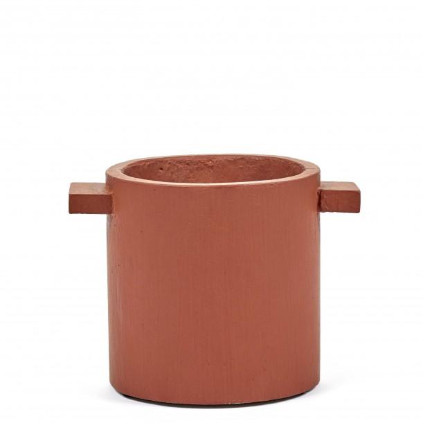 Cylindrical Rust Concrete Pot Marie Diam 15 x H 15 cm Serax