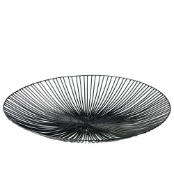 Basket EDO Black Diam 50 x H 7 cm Serax