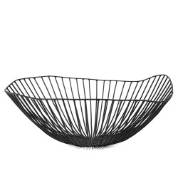 Basket CESIRA Black Diam 39 x H 13 cm Serax