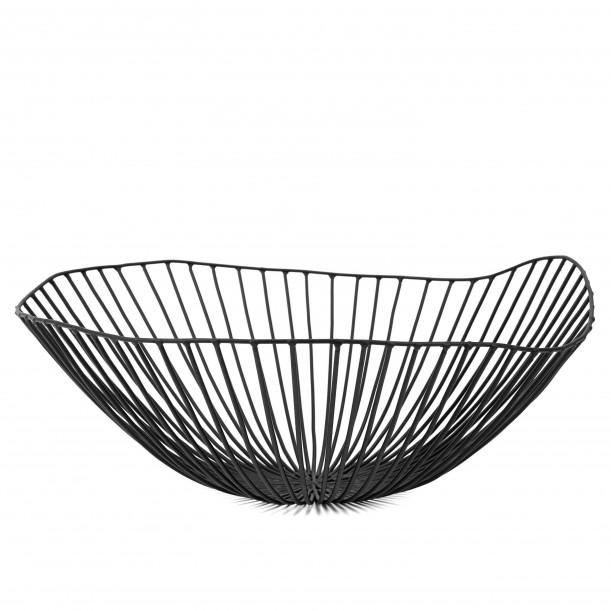 Corbeille CESIRA Noir Diam 39 x H 13 cm Serax