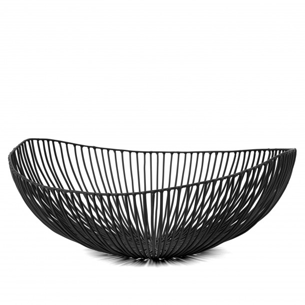 Basket MEO Black Diam 37 x 33 x H 14 cm Serax