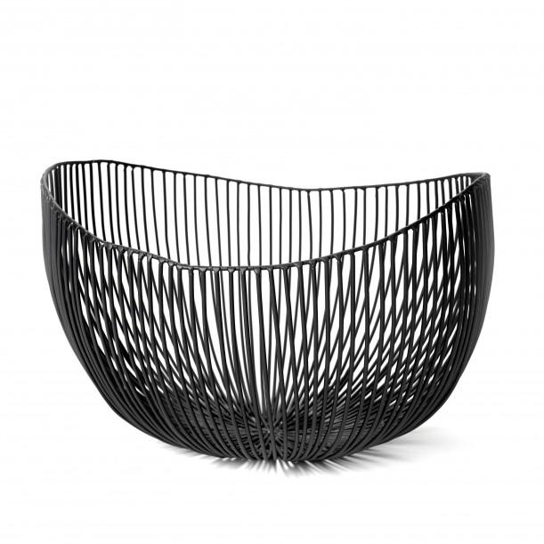 Basket PROFOND Black Diam 31 x 29 x H 21 cm Serax