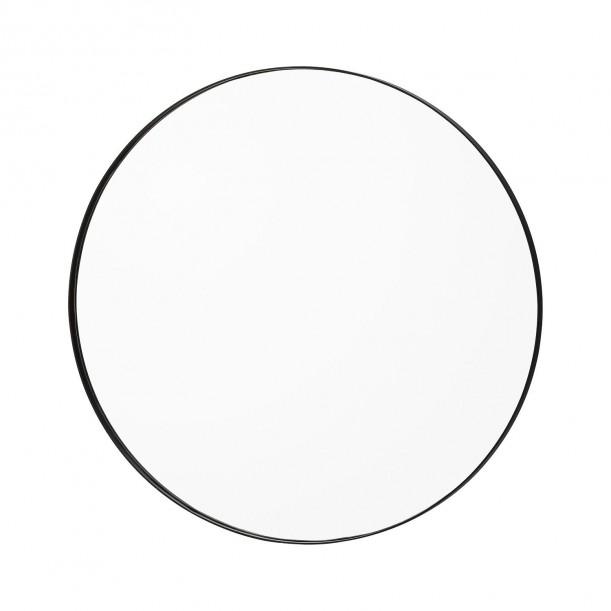 Miroir Mural Circum Clear et Bord Noir Small Rond Diam 70 cm AYTM