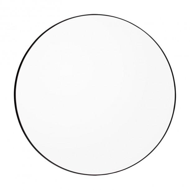Circum Mirror Clear and Black Frame Medium Diam 90 cm AYTM