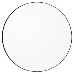 Miroir Mural Circum Clear et Bord Noir Large Rond Diam 110 cm AYTM