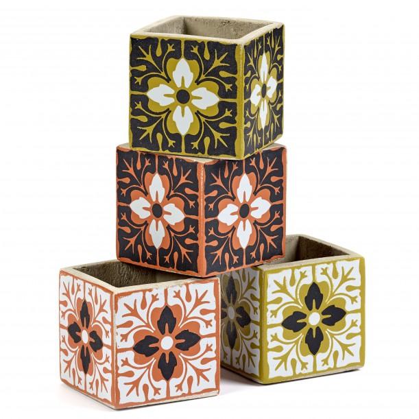 4 Concrete Pots Marie Carreau Vintage 7,5 x 7,5 x 7,5 cm Serax