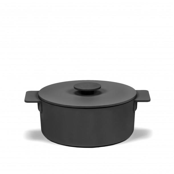 Cocotte Surface Fonte Noire D20 cm 2 L Tous Feux Serax