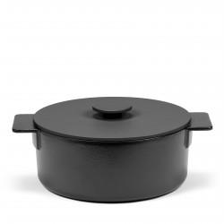 Casserole Surface Cast Iron Black D23 cm 3 L All fires Serax
