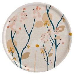 Large Tray Bois de Rose Round Diam 45 cm Mr & Mrs Clynk