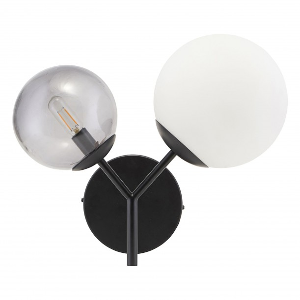 Opal Black Twice White and Grey Wall Lamp House Doctor