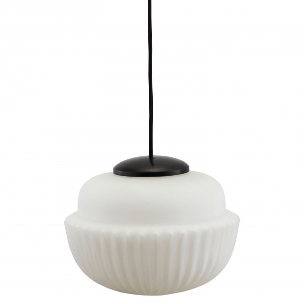 Lampe Suspension Acorn Large Noir et Blanc Diam 29 cm House Doctor