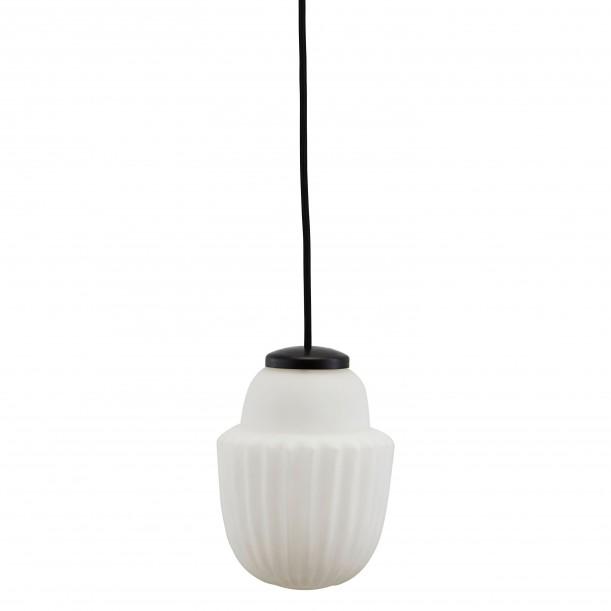 Black and White Pendant Acorn Small Diam 13 cm House Doctor