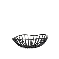 Bread Basket CATU Black Small Diam 15 x H 5 cm Serax