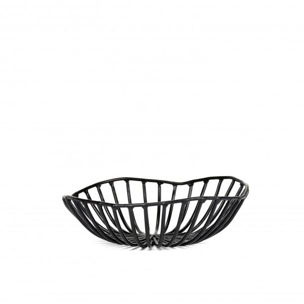 Bread Basket CATU Black Small Diam 15 x H 5 cm Serax