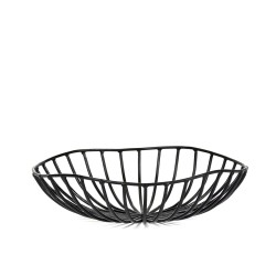Bread Basket CATU Black Large Diam 20 x H 6 cm Serax