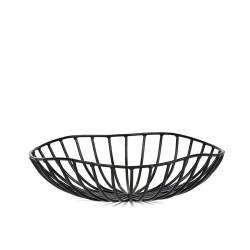 Corbeille à Pain CATU Noir Large Diam 20 x H 6 cm Serax