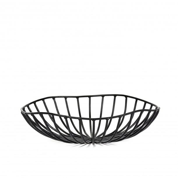 Bread Basket CATU Black Large Diam 20 x H 6 cm Serax