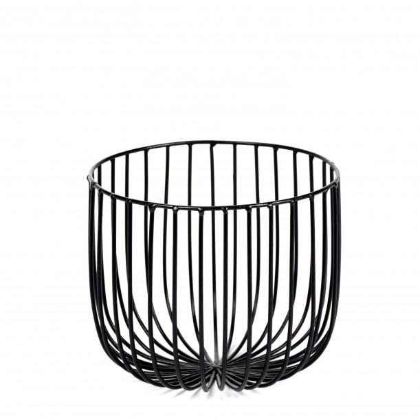Basket CATU Black Small Diam 18 x H 15 cm Serax