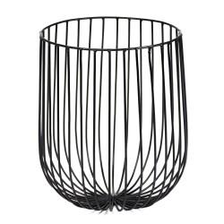 Basket CATU Black Large Diam 20 x H 25 cm Serax