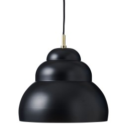 Bubble Pendant Matt Black Large Diam 25 cm Superliving