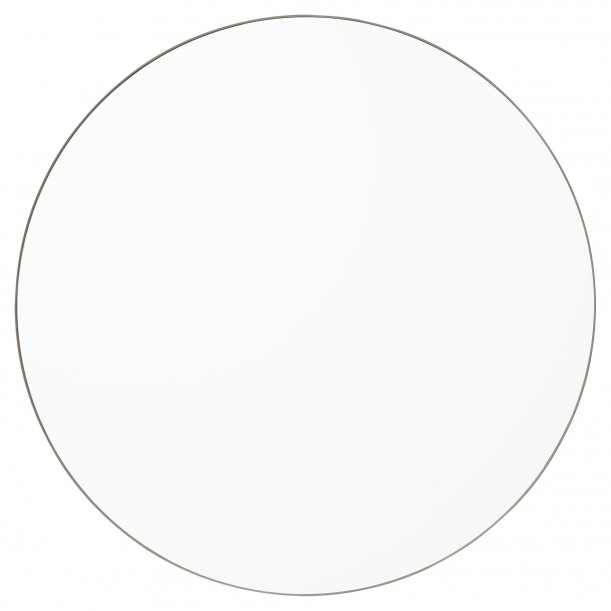 Circum Mirror Clear and Grey Taupe Frame Large Diam 110 cm AYTM