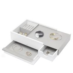 Stowit Nickel and White Jewelry Box Umbra