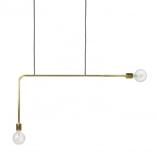 Pendant Lamp Essential KVG Long Brass 110 x 54 cm Serax