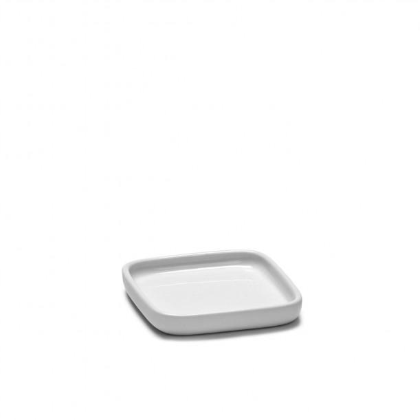 Square Plate HEII white porcelain 8 x 8 cm Serax