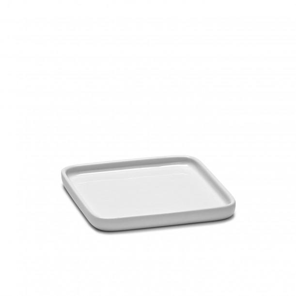 Assiette Carrée HEII Porcelaine Blanche 12 x 12 cm Serax