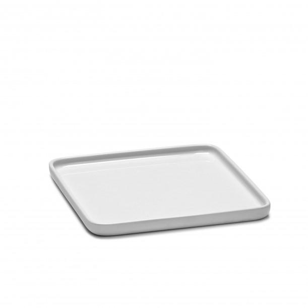 Square Plate HEII white porcelain 16 x 16 cm Serax