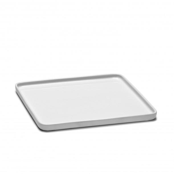 Square Plate HEII white porcelain 20 x 20 cm Serax
