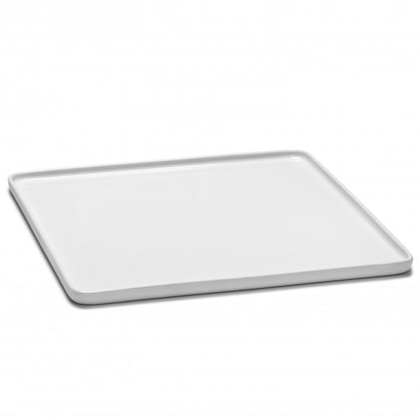 Assiette Carrée HEII Porcelaine Blanche 28 x 28 cm Serax