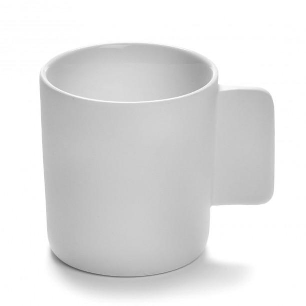 Mug HEII white porcelain Diam 7,8 cm Serax