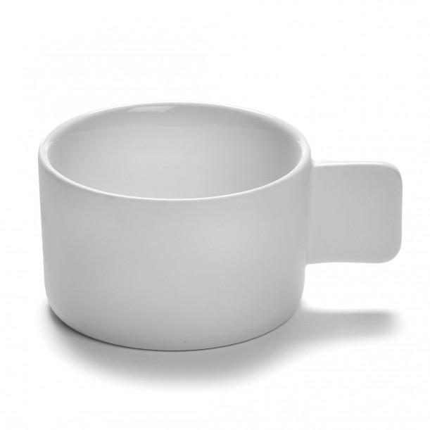Cappuccino Cup HEII white porcelain Diam 9 cm Serax