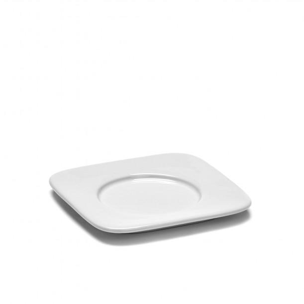 Saucer Expresso HEII white porcelain 9,9 x 9,9 cm Serax