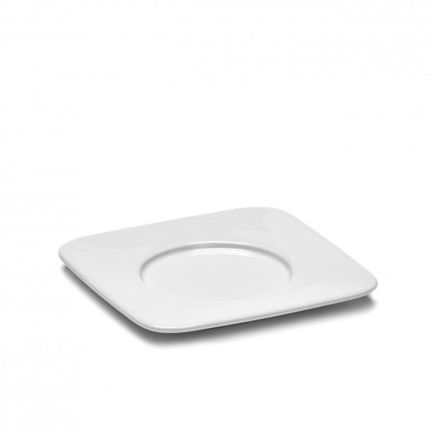 Soucoupe Tasse Café Carrée HEII Porcelaine Blanche 11,2 x 11,2 cm Serax