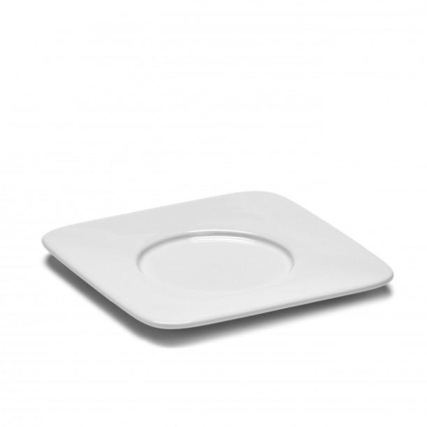 Soucoupe Mug Carrée HEII Porcelaine Blanche 12,7 x 12,7 cm Serax