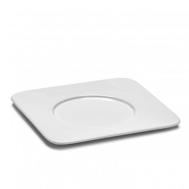 Saucer Cappuccino HEII white porcelain 14,7 x 14,7 cm Serax