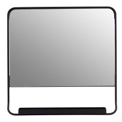 Wall Mirror Chic with Shelfe and Black Edge House Doctor