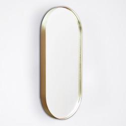 Miroir Cruziana Ovale 25 X 55 cm Encadrement Laiton Eno