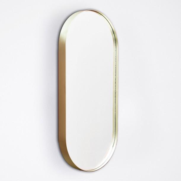 Cruziana Mirror Oval 25 X 55 cm Brass Frame by Eno