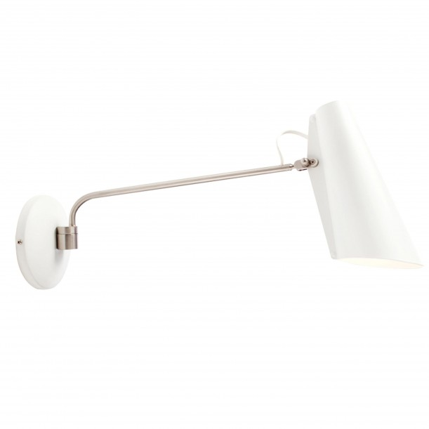 Birdy Long Wall Lamp White Metal Northern